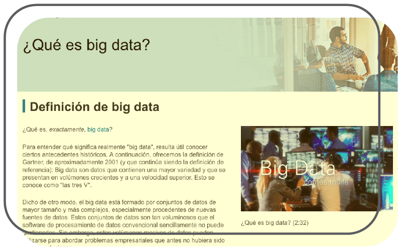 Infográfico sobre big data